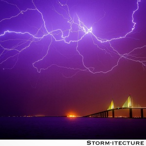 Lightning over Sunshine Skyway Bridge